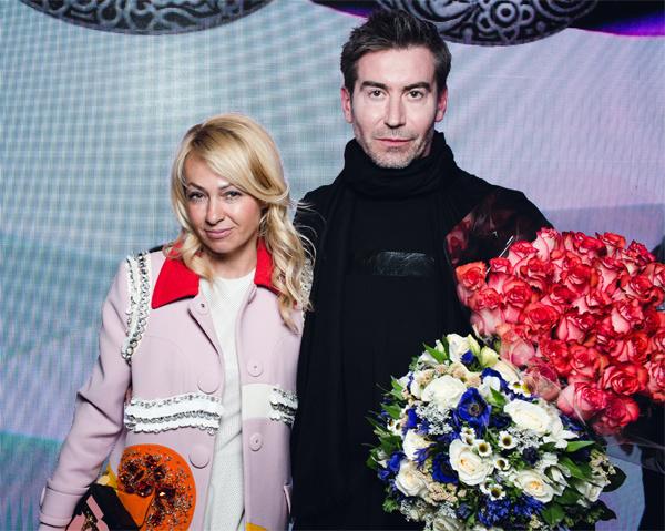 Яна Рудковская и дизайнер Олег Овсиев