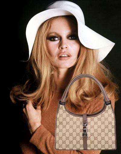 Брижит Бардо (Brigitte Bardot), сумка Gucci