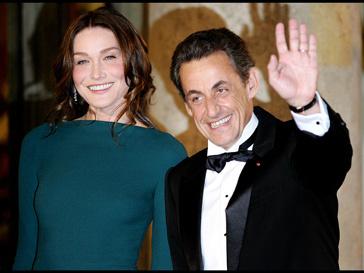 Карла Бруни (Carla Bruni) и Николя Саркози (Nicolas Sarkozy)