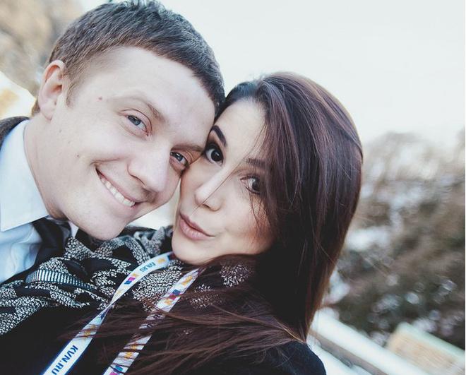 команда союз Виктор Щетков с женой