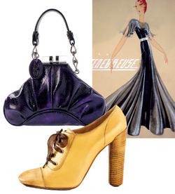 Для своей последней коллекции Альбер Эльбаз использовал архивы Дома Lanvin, откуда была взята идея платьев с большими акцентированными плечами. Сумка, D&G; туфли, Marc Jacobs.