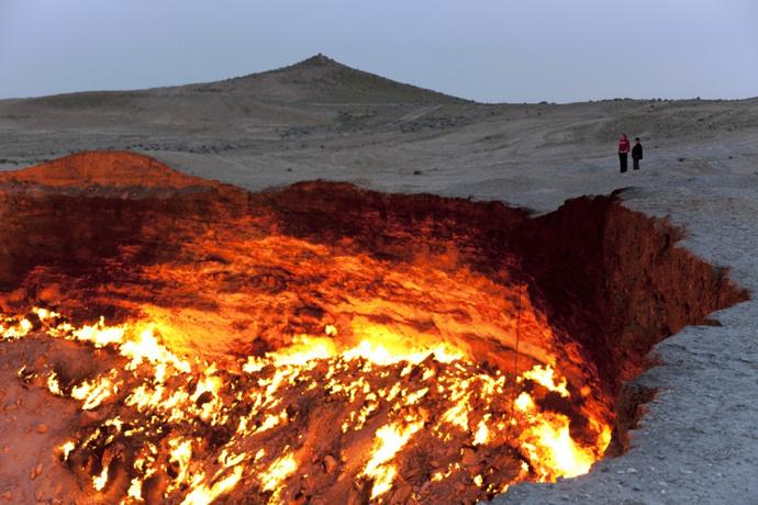 Кратер Дарваза, Туркменистан