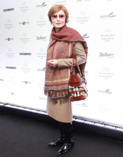 Елена Ищеева на Mercedes-Benz Fashion Week весна-2013