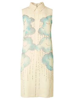 Платье с отложным воротником с принтом в виде облаков из линии Victoria