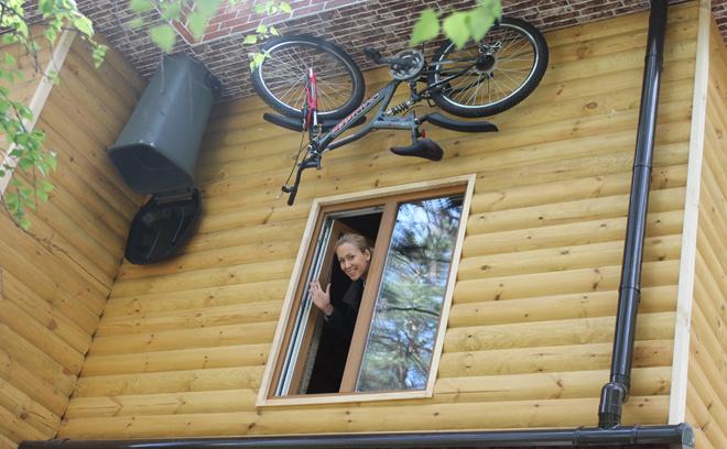 Перевернутый дом в Новосибирске
