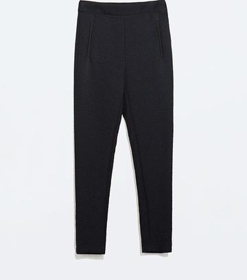 Жаккардовые укороченные брюки