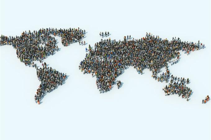 Карта мира и люди