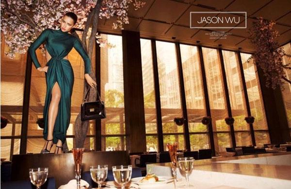 Адриана Лима в кампании Jason Wu осень-зима 2014