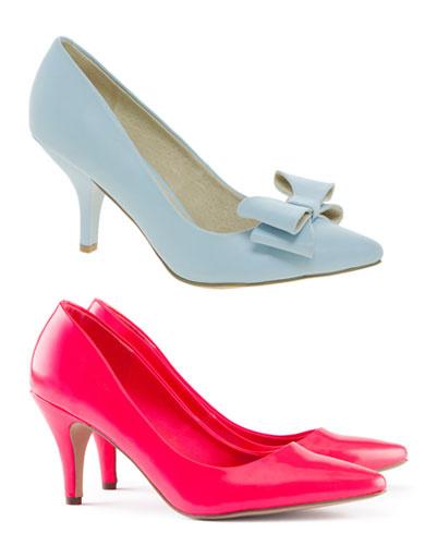 Сверху вниз: туфли Faith; туфли H&M