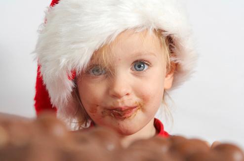 Ребенок и шоколад