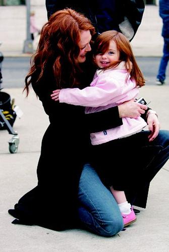 С дочерью Лив – «чудом», с которым она встретилась в 42 года.