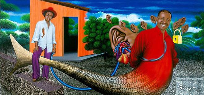 Шерри Самба «Секрет маленькой рыбы, превращающейся в большую» (2002).