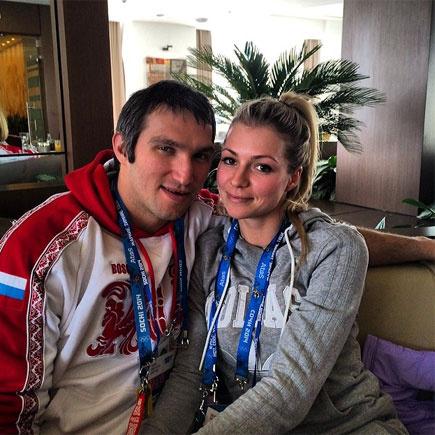 Мария Кириленко и Александр Овечкин, фото