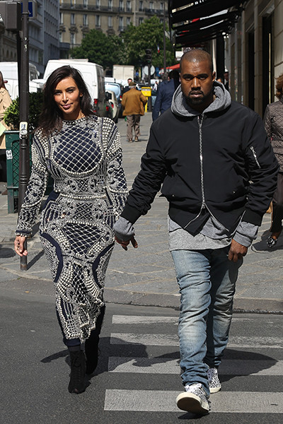 Ким и Канье в Париже