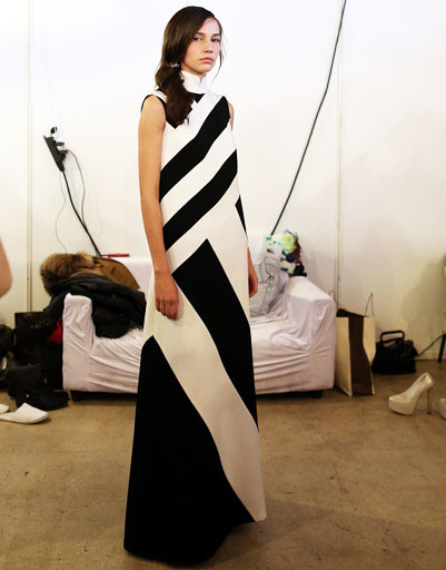 На бэкстейдже показа Dasha Gauser осень-зима 2013/14, Mercedes-Benz Fashion Week Russia