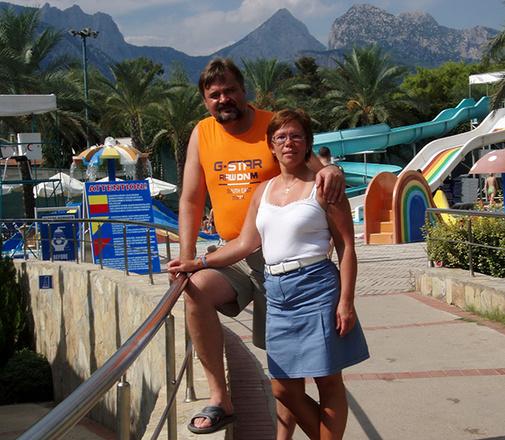 Елена Галка с мужем Валерием