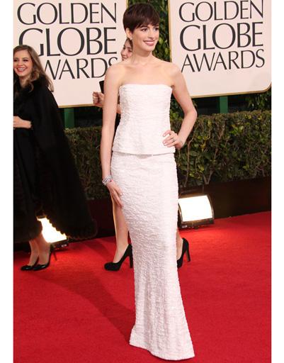 """Энн Хэтэуэй (Anne Hathaway) на """"Золотом глобусе""""-2013"""