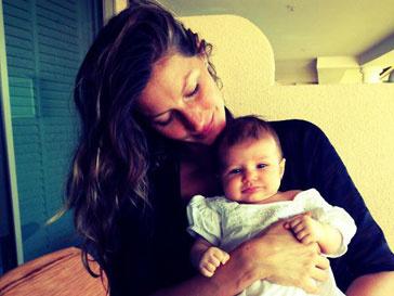 Жизель Бундхен и ее дочь Вивьен