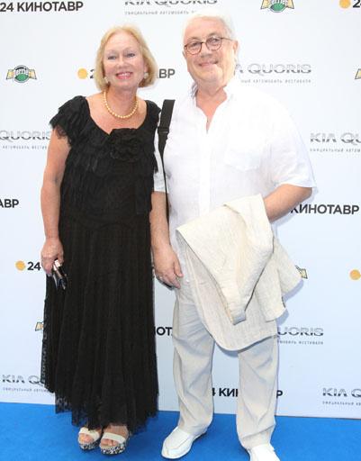 Владимир Винокур с женой
