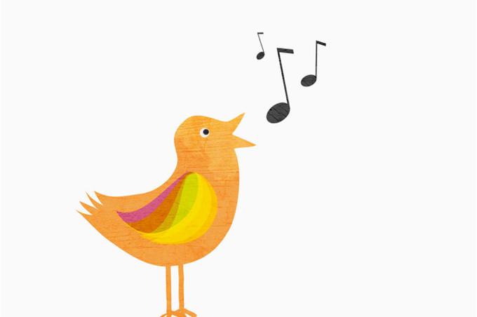 Ноты и птица