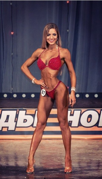 Ксения Романова, фитнес-бикини модель, г. Красноярск