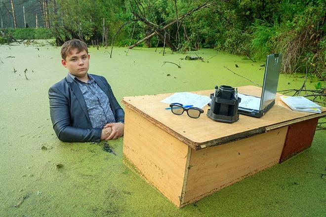 Оригинальная фотосессия, фотосессия в болоте