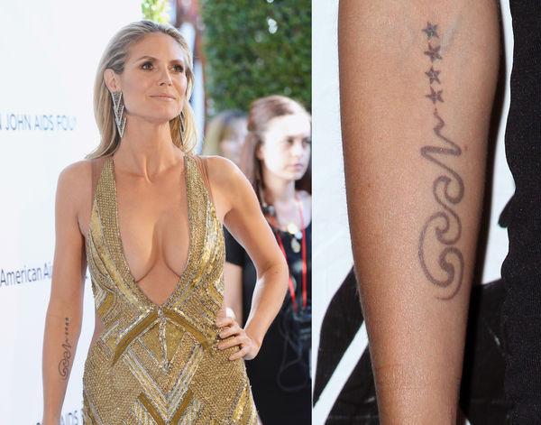 Звезды и их татуировки в честь детей