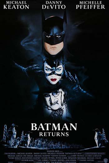 Постер к фильму Тима Бертона «Бэтмен возвращается»