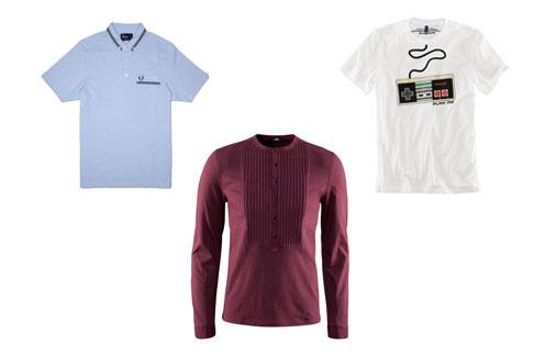 Футболка-поло Fred Perry, футболка с длинным рукавом H&M, футболка с принтом H&M