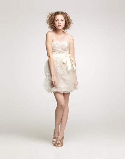 Короткое свадебное платье J.Crew