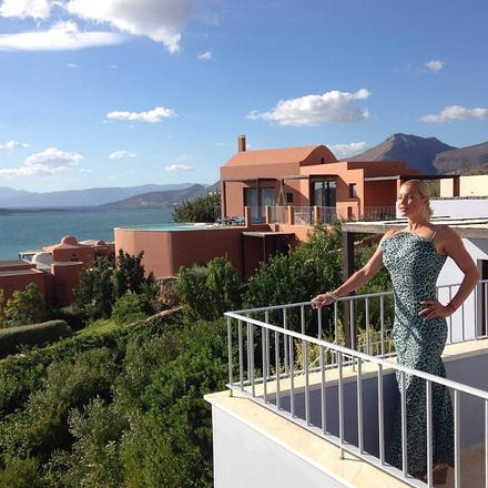 Анастасия Волочкова в Греции