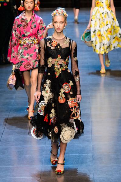 50 лучших платьев Недели моды в Милане | галерея [1] фото [21]
