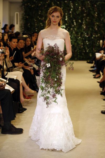 Показ Carolina Herrera на Неделе свадебной моды в Нью-Йорке | галерея [1] фото [8]