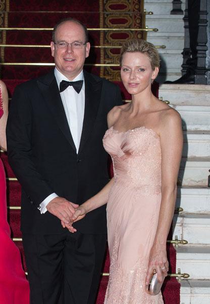 Князь Альбер II и княгиня Шарлен на Love Ball