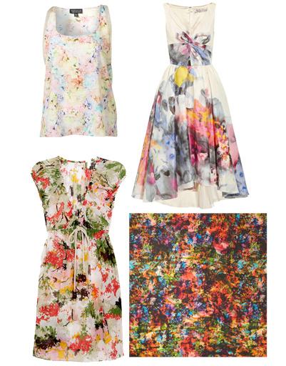 Блуза TopShop, платье Lela Rose, платок Erdem, платье Milly