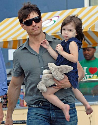 Том Круз (Tom Cruise) с дочкой Сури