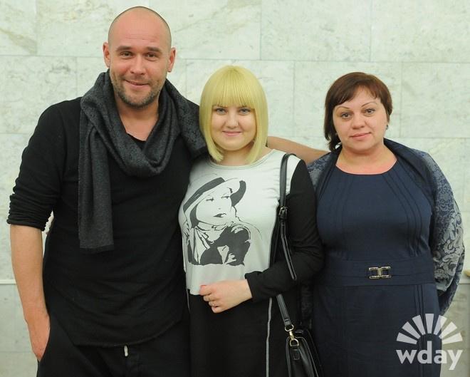 Максим Аверин с Юлей и ее мамой