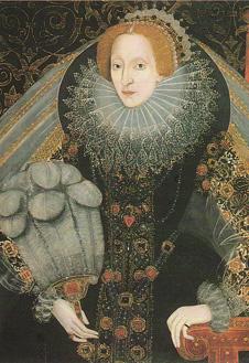 Портрет Елизаветы I, ок. 1580-86 г. Приписывается Джону Беттесу.