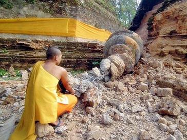 Подземные толчки произошли на границе Мьянмы и Таиланда