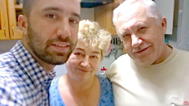 Николай Заболотских с родителями
