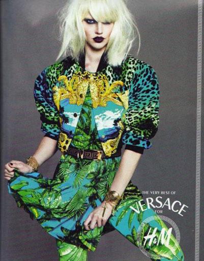 Приинт на этом платье Versace for H&M повторяет рисунок платья сшитого специально для Дженнифер Лопес в 2000 году