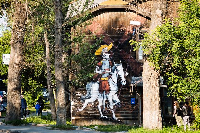 Картина «Дон Кихот», фестиваль «Стенограффия», фото