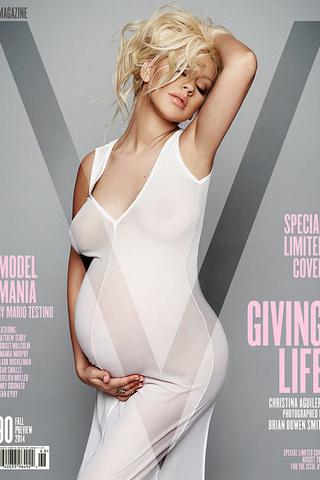 беременные звезды на обложках глянца Кристина Агилера