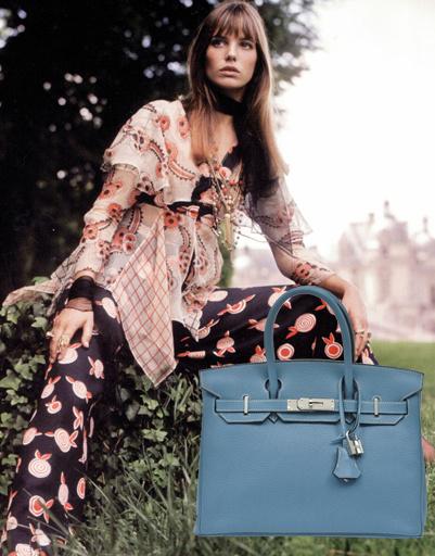 Джейн Биркин (Jane Birkin), сумка Hermes