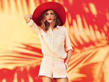 Кара Делевинь (Cara Delevingne) в рекламной кампании Reserved весна-лето 2013