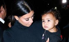 Кардашьян привезла дочь на Неделю моды в Париже