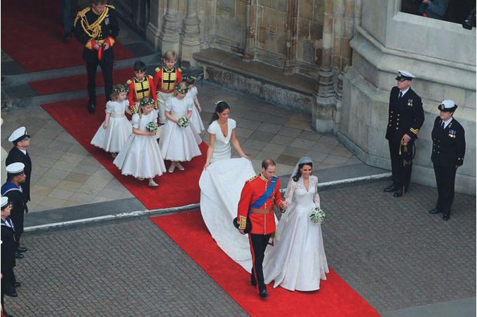 27 апреля 2011 года: венчание принца Уэльского Уильяма и Кейт Миддлтон.