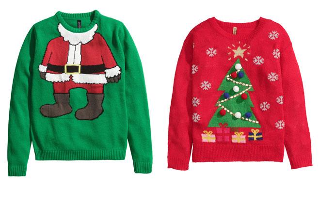 Мужской свитер H&M, 799 руб.; женский свитер H&M, 1499 руб.