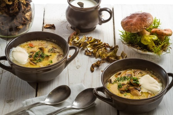 Суп из грибов с макаронами