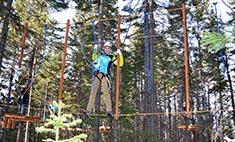 На высоте: веревочный парк открылся в Байкальске